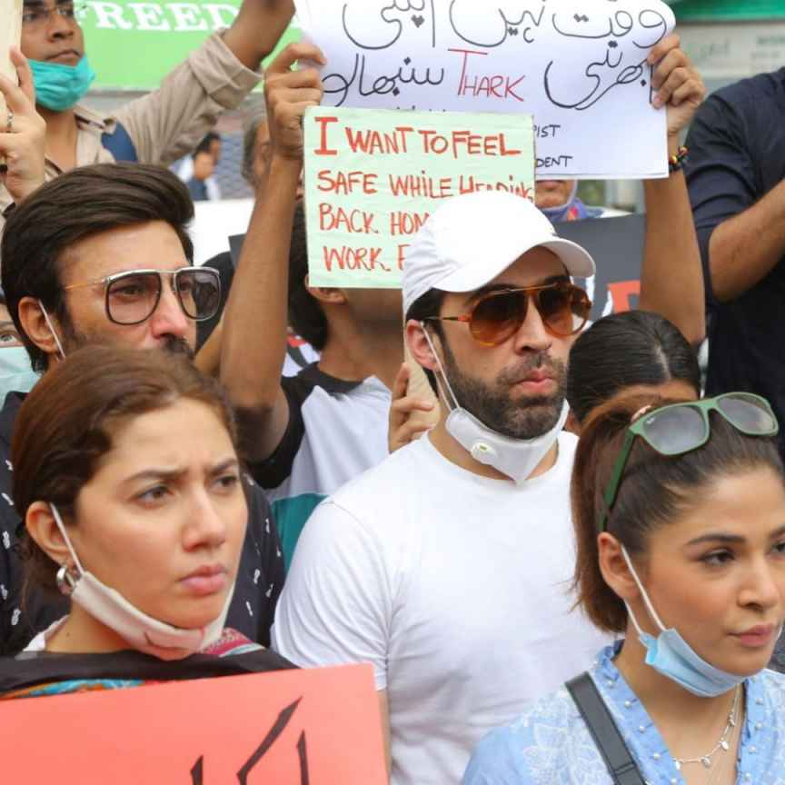 Ayesha Omar Mahira Khan Sarah Khan And Others Attend Protest For Motorway Rape Case 1