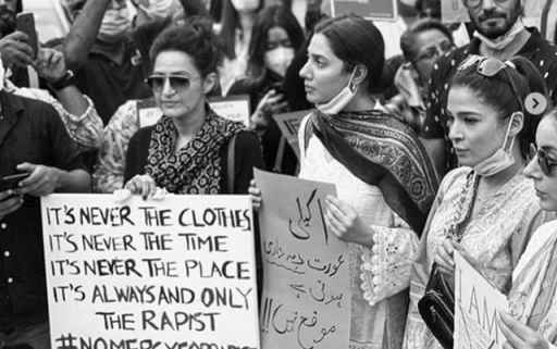Ayesha Omar Mahira Khan Sarah Khan And Others Attend Protest For Motorway Rape Case 6